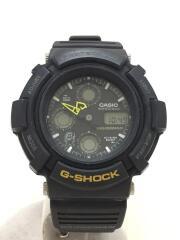 クォーツ腕時計/デジアナ/--/ブラック/ブラック