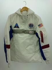 アウター/M/ナイロン/ホワイト/10014/NASA アノラック/ワッペン/ハーフジップパーカー