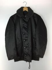 ブルゾン/36/ブラック/無地/メンズ/デッキジャケット/USA製/ジップアップ/アウター