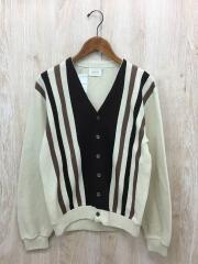 カーディガン/S/ウール/ベージュ/メンズ/ストライプ/羽織り/前身/ニット/セーター