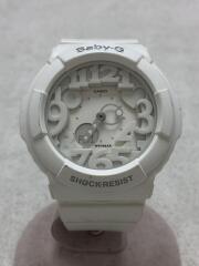 クォーツ腕時計・Baby-G/デジアナ/ラバー/WHT/WHT