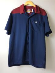 半袖シャツ/L/ポリエステル/NVY/オープンカラーシャツ