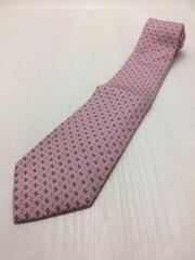 ネクタイ/シルク/ピンク/大きなシミ有
