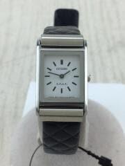 ×G.V.G.V./GN-0-S/クォーツ腕時計/アナログ/レザー/WHT/BLK