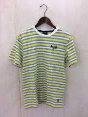 KN00091SP19/Tシャツ/M/コットン/YLW/ボーダー