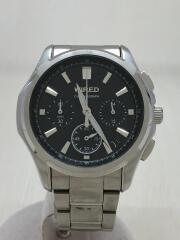 クロノグラフ/クォーツ腕時計/アナログ/ステンレス/ブラック/シルバー/VK63-K013