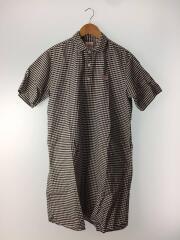 ギンガムチェックシャツワンピース/36/コットン/ブラック/17S-WS-002