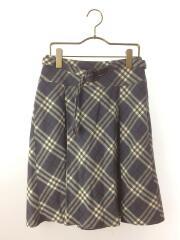 スカート/36/ウール/GRY