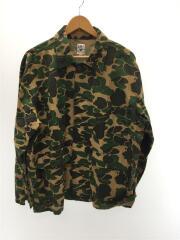 Hunting Shirt-Printed Flannel/ジャケット/M/コットン/グリーン/カモフラ/CH790