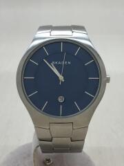 クォーツ腕時計/SKW6181/アナログ/ステンレス/ネイビー/シルバー