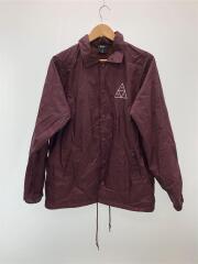 Triple Triangle Logo Coach Jacket/ナイロンジャケット/M/ナイロン/ボルドー