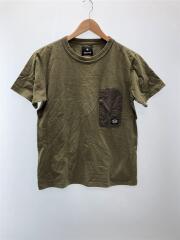 Tシャツ/L/コットン/KHK