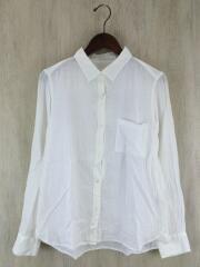 スタンダードホワイトシャツ/M/コットン/ホワイト/白/ブラウス/シャツ/コットン/シワ加工/レディース/