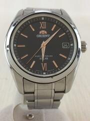 ソーラー腕時計/アナログ/ステンレス/ブラック/シルバー/ウォッチ/SE00-C2-B/