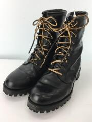 9ホールブーツ/US8.5/ブラック/黒/革靴/ビブラムソール/メンズ/vibram/