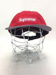 Supreme/キャンプキャップ/レッド/赤/ストライプ/ボックスロゴ/帽子/ジェットキャップ/