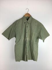 半袖シャツ/S/コットン/グリーン/緑/チェック/トーンオントーン/メンズ/トップス/半袖/シャツ