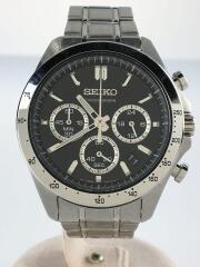 クォーツ腕時計/アナログ/ステンレス/ブラック/シルバー/BT63-00D0