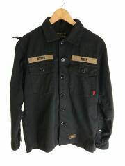 161gwdt-shm02/ミリタリージャケット/CPOジャケット/シャツジャケット/2/M位/ブラック/