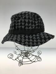 バケットハット//帽子/アウトドア/ストリート/XL/ナイロン/グレー/トライアングル/総柄/ロゴ/