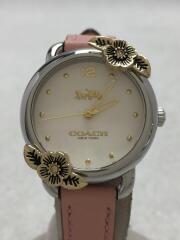腕時計/アナログ/レザー/14503239/デランシー/レディース/花/フラワー/ピンク