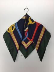スカーフ/シルク100/グリーン/ネイビー