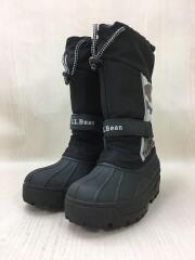 キッズ靴/19cm/スノーブーツ/ブラック/カモフラ柄/迷彩柄/ドローコード