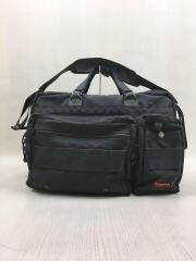 ブリーフケース/ビジネスバック/ショルダーバック/肩掛け/鞄/ナイロン/ブラック/2WAY/