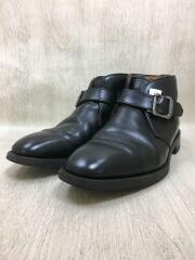 ブーツ/25cm/ブラック/レザー/ストラップブーツ