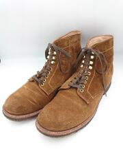 ブーツ/US8/ブラウン/スウェード/プレーントゥブーツ