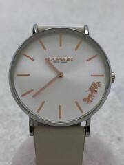 腕時計/アナログ/レザー/ホワイト/白/ウォッチ/レディース