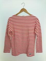 長袖Tシャツ/コットン/RED/ボーダー/カットソー/ロンT/ORCIVAL/