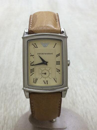 buy popular 5e77e 8ecc7 エンポリオアルマーニ/クォーツ腕時計/アナログ/CRM/中古
