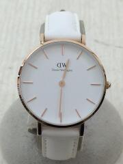 クォーツ腕時計/アナログ/レザー/WHT/WHT//32mm Classic  B32R9