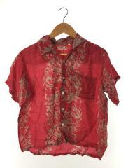 アロハシャツ/M32682/S/レーヨン/RED/総柄/ドラゴン柄