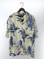 noma/MEN Cactus Rayon/半袖シャツ/L/レーヨン/ホワイト/総柄/アロハシャツ ハワイアン オープンカラー