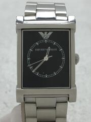 エンポリオアルマーニ/AR-9003M/クォーツ腕時計/アナログ/ステンレス/BLK/SLV