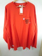 長袖Tシャツ/XL/コットン/オレンジ