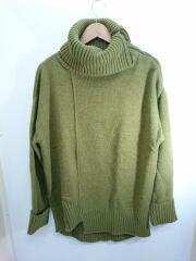 セーター(厚手)/TURN DOWN TURTLE KNIT/FREE/アクリル/グリーン/緑/無地/
