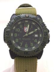 ネイビーシリーズ/クォーツ腕時計/アナログ/ナイロン/BLK/GRN/3050/3950