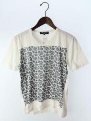 Tシャツ/S/コットン/WHT/ペーズリー