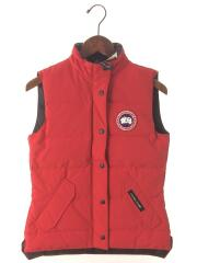 FREESTYLE VEST/ダウンベスト/XS/ナイロン/RED