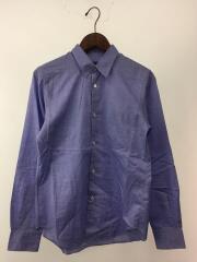 Cotton Broad Long Sleeve Shirt/長袖シャツ/XS/コットン/BLU