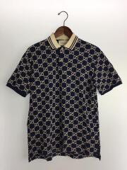 20SS/GG刺繍ポロシャツ/S/コットン/NVY/コットンピケ