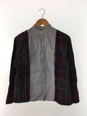 スイスコットンロンストワークシャツ/ストライプ/チェック/長袖シャツ/1/コットン/798111