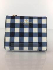 2つ折り財布/PWRU6255/ブルー/チェック