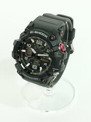 ソーラー腕時計・G-SHOCK/デジアナ/ラバー/BLK/GRY/電波 MUDMASTER マッドマスター  GWG-100GB-1AJF
