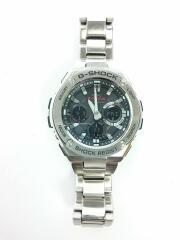 ソーラー腕時計・G-SHOCK/デジアナ/ステンレス/シルバー