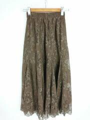 スカート/0/ナイロン/2020年モデル/パネル切替レースギャザースカート/09WFS201229