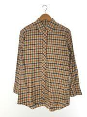 コットンニェルチェックワイドシャツ/半袖ブラウス/FREE/コットン/1611-149-2033-0300
